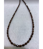 Reddish Brown Olive Diamond Beads
