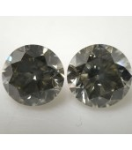 Grey Diamond Cut Round