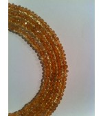 Citrine button fasct. 5-6mm