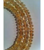 Citrine button fasct. 7-8mm