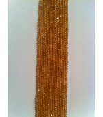 Citrine button fasct. 4-5mm
