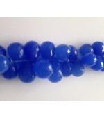 Chalcedon dark blue drops fasct. 12mm