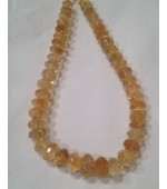 Citrine button fasct 15mm