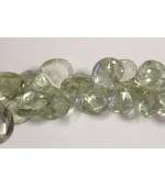 Prasiolite Green Qtz Amethyst  Heart fasct. 12mm