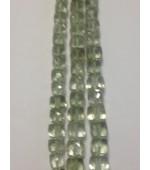 Prasiolite Green Qtz Amethys Cube fasct. 7mm