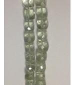 Prasiolite Green Qtz Amethys Cube fasct. 9mm