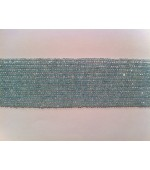 Acquamarine button fasct 3-4mm