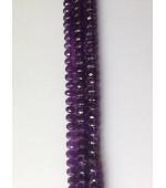 Amethyst button fasct 7-10mm