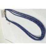 Blue sapphire button fasct