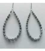 Grey Diamond Olive Beads